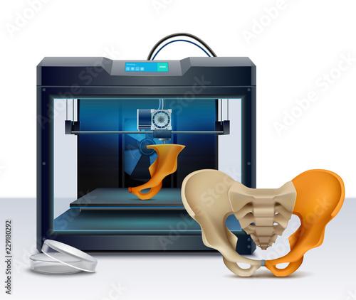 Cuadros en Lienzo 3d Printing Realistic Composition
