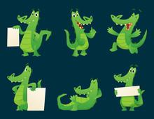 Alligator Characters. Wildlife...