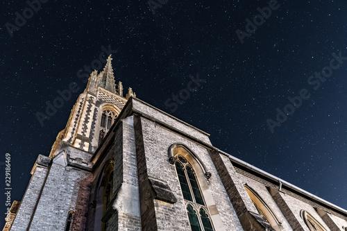Night Church Canvas Print