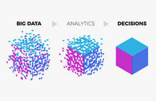 Big Data Analytics Algorithm Concept Illustration