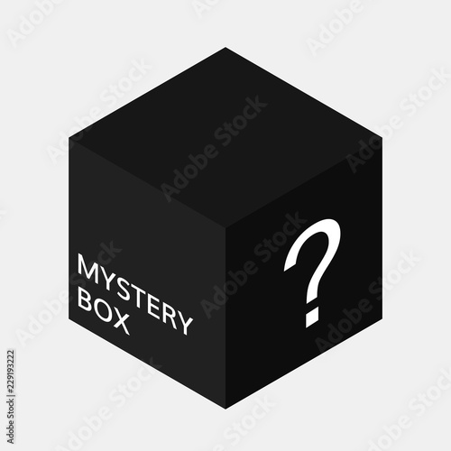 Mystery box icon Canvas Print
