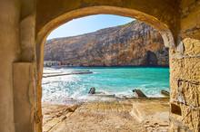 Dwejra Inland Sea Through The Arch, San Lawrenz, Gozo, Malta