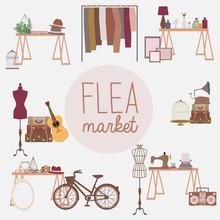 Flea Market Set With Vintage C...