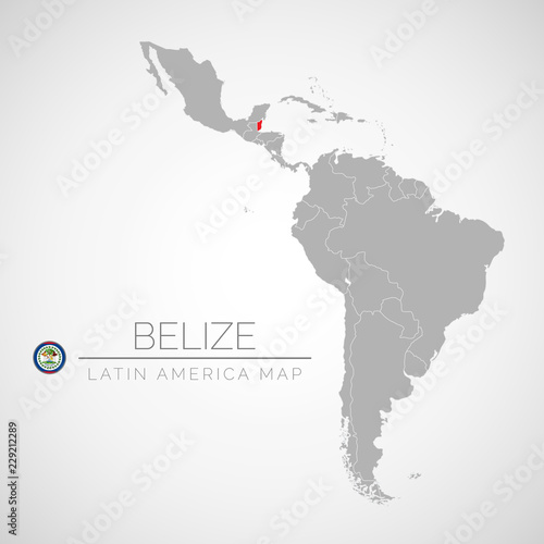 Belize Political Map.Map Of Latin America With The Identication Of Belize Map Of Belize