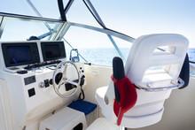 Inside The Cockpit Of Yacht