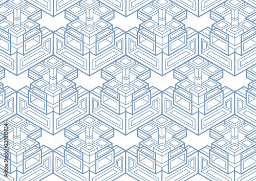 Abstract Cube, Rectangle . Isometric Background Wallpaper Mural