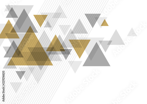Obraz na plátně Abstract luxury background design of triangle vector illustration