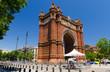 The Arc de Triomf - triumphal arch in Barcelona city, Catalonia, Spain