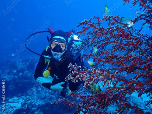 Spoed Foto op Canvas Duiken plongée sous marine