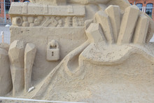 Sand Sculpture Made By Hand