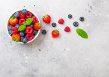 Fresh Raw Organic Berries In W...