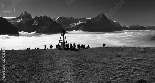 Foto op Aluminium Arctica Alpen, Wandern, Berner Oberland, Eiger Mönch Jungfrau, Grindelwald, Schweiz