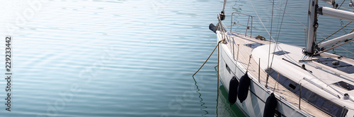 Modern, elegant and luxury sail boat; lifestyle and travel concepts Wallpaper Mural