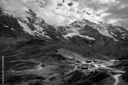 Canvas Prints Dragons Wandern Schweizer Alpen, Berner Oberland, Eiger Mönch Jungfrau, Grindelwald, Schweiz