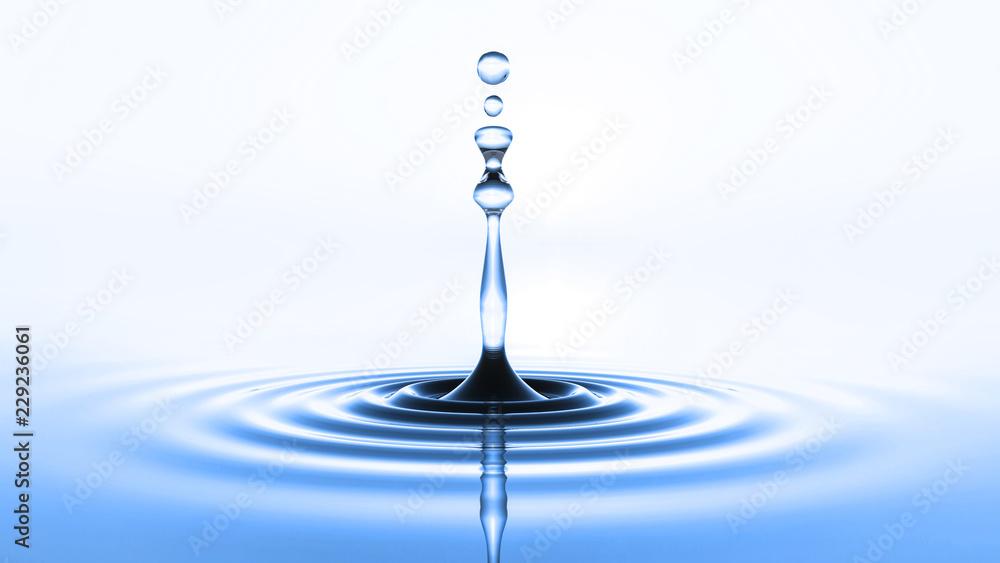 Fototapeta blue water drop