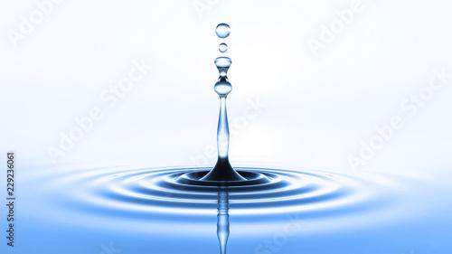 Valokuva  blue water drop
