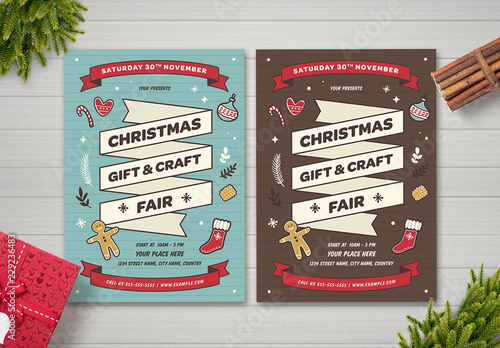 Christmas Fair Flyer Layout Buy This Stock Template And Explore