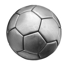 Silver Soccer Ball Isolated On White Background
