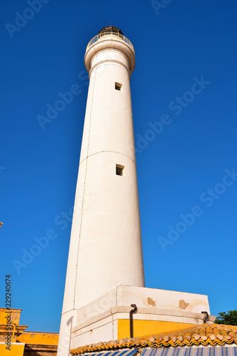 Foto op Aluminium Vuurtoren the lighthouse of punta secca province of Ragusa Sicily Italy