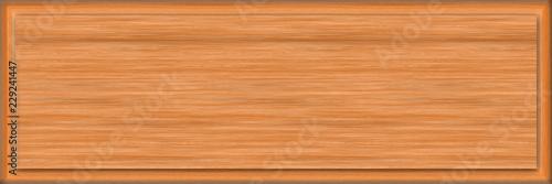 Valokuva  1x3 Cedar Rectangle Sign Blank