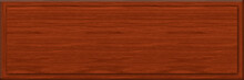 1x3 Mahogany Rectangle Sign Blank