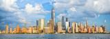 Fototapeta Nowy Jork - Lower Manhattan skyline panorama over Hudson River, New York