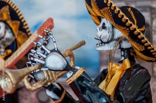 catrina mexicana calavera dia de muertos halloween Canvas Print