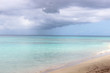 Light blue sea shore and sand