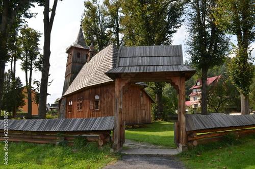 Zabytkowy kościołek drewniany, Sromowce Niżne, Polska - fototapety na wymiar