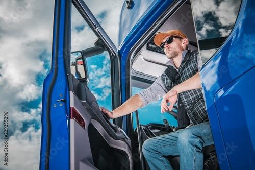 Pro Truck Driver on Duty