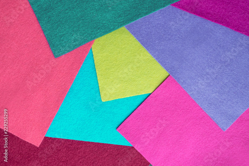 Samples Of Soft Felt Flaps In Different Colours Fan Of Colored
