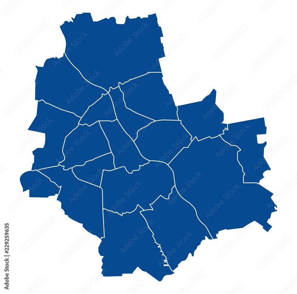 Fototapeta Map of Warsaw
