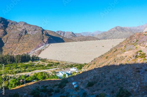Deurstickers Blauw Paisaje del Valle del Elqui Chile
