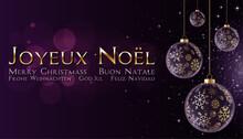 Joyeux Noël Violet