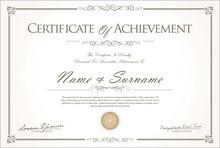 Certificate Or Diploma Retro V...