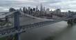 Aerial of Brooklyn, New York and City Skyline