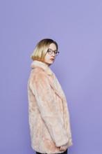 Pretty Woman In Pink Coat