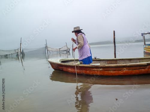 Photo Presa el Tejocotal Hidalgo México barcos pesca