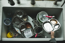 A Dirty Sink Of Dishes