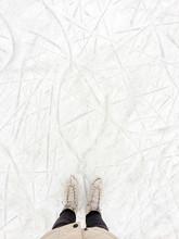 Women's Skates On The Rink
