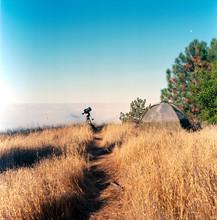 My Astrophotography Stup In Big Sur, CA, Shot On Medium Format Film