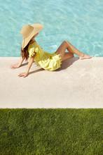 Beautiful Hispanic Woman Relax...