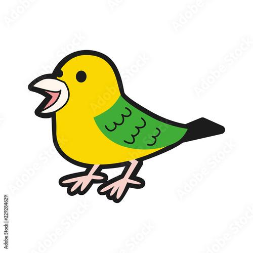 小鳥のイラスト可愛いカラフルな小鳥 Acheter Ce Vecteur Libre De