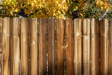 Rustic Wooden Fence Background...