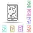 message onphone withbirthday dusk icon. Elements of Birthday in multi color style icons. Simple icon for websites, web design, mobile app, info graphics