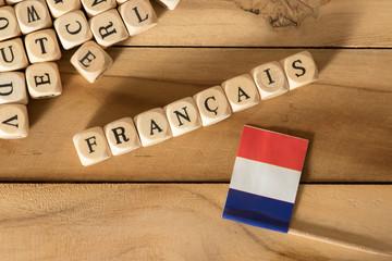 Flagge von Frankreich und d...