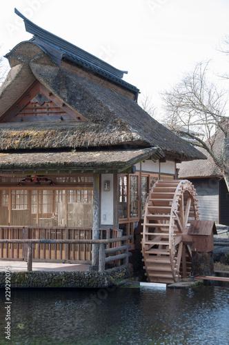 Oshino Hakkai village , tourist destination point in Japan.