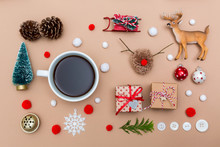 Christmas Ornaments With Coffe...