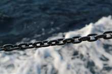 Boat Chain On Sea Background