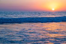 California Ocean Sunset From S...